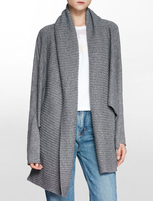 CALVIN KLEIN KNIT CARDIGAN WITH DRAPE FRONT