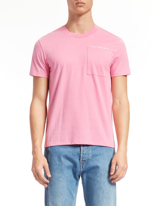 CALVIN KLEIN CREW NECK TEE WITH CHEST POCKET