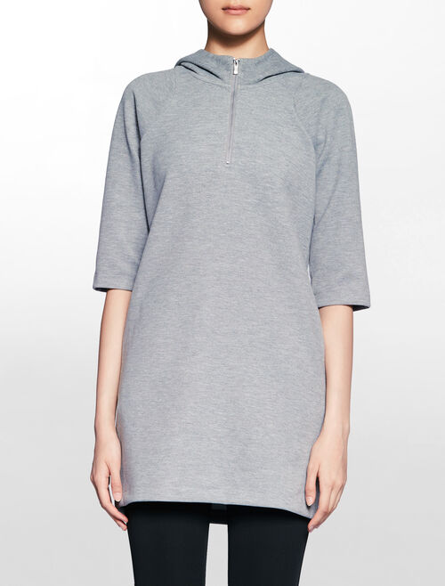 CALVIN KLEIN OVER LAPPED BACK HOODED SWEAT DRESS