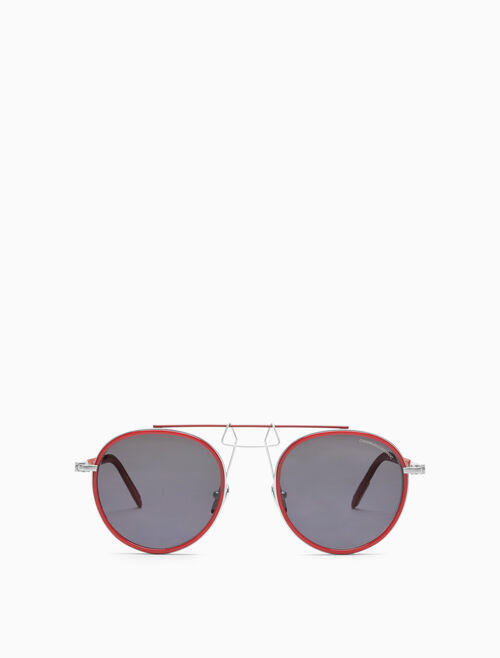 CALVIN KLEIN Clip bridge round sunglasses
