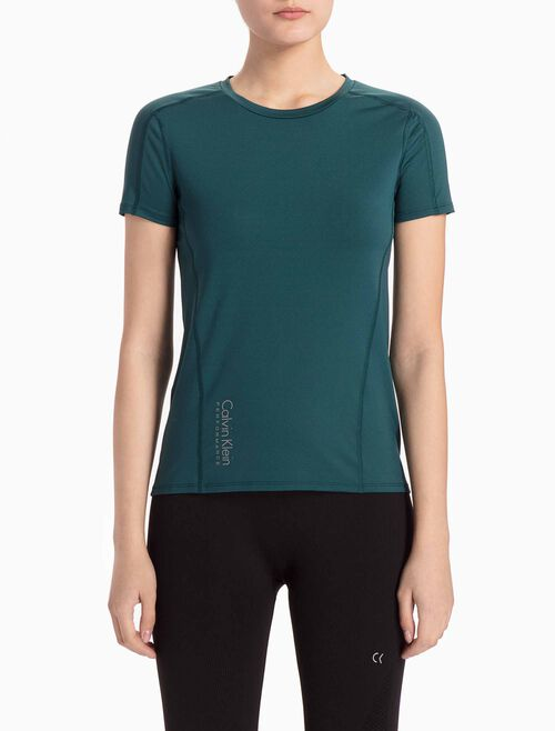 CALVIN KLEIN SHORT-SLEEVE TEE WITH SHOULDER PANELS