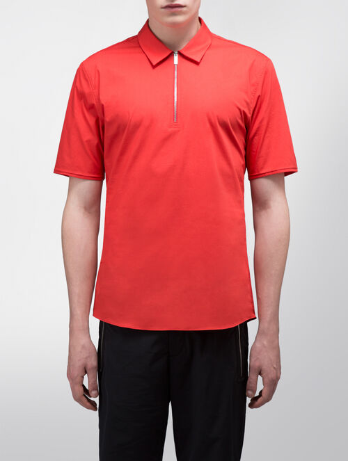 CALVIN KLEIN FINE STRETCH POPLIN SHORT SLEEVES SHIRT ( SA-XTREME FIT )