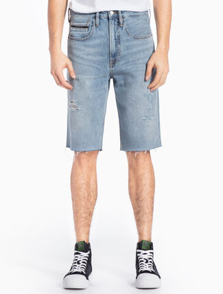 CALVIN KLEIN DISTRESSED DENIM SHORTS