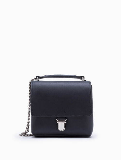 CALVIN KLEIN SCULPTED CITY SATCHEL WITH FLAP