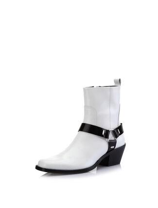CALVIN KLEIN PATENT LEATHER 踝靴