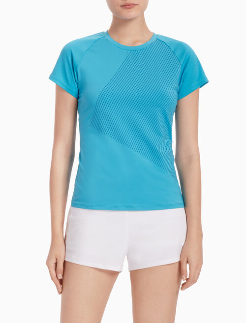 CALVIN KLEIN SHORT-SLEEVE TEE WITH MESH BACK PANELS