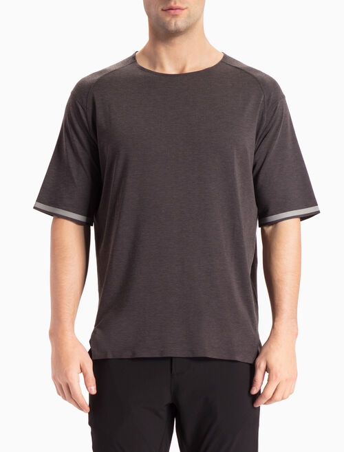 CALVIN KLEIN SHORT-SLEEVE TEE WITH STRIPE
