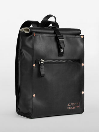 CALVIN KLEIN SURPLUS PU ROLL TOP BACKPACK