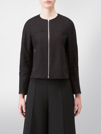 CALVIN KLEIN STRETCH PEBBLE TEXTURE EASY COAT