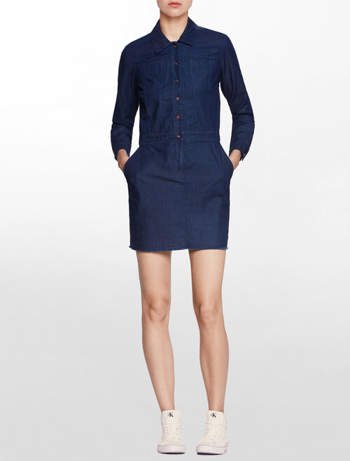 CALVIN KLEIN DEXTER SHIRT DRESS