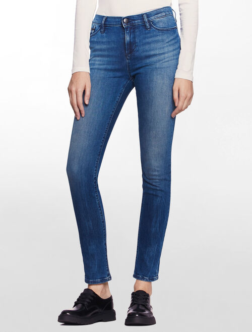 CALVIN KLEIN MERIDIAN BLUE HIGH RISE SKINNY JEANS