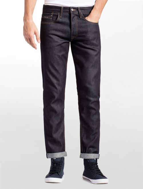 CALVIN KLEIN STRAIGT FIT SELVEDGE DENIM JEANS