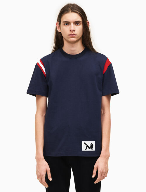 CALVIN KLEIN heavy jersey striped t-shirt