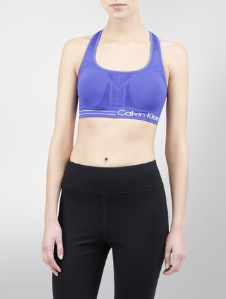 CALVIN KLEIN MEDIUM IMPACT BRA WITH REMOVABLE CUPS