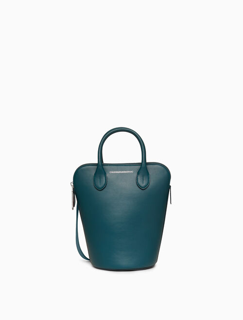 CALVIN KLEIN MINI BUCKET BAG IN NAPPA LEATHER