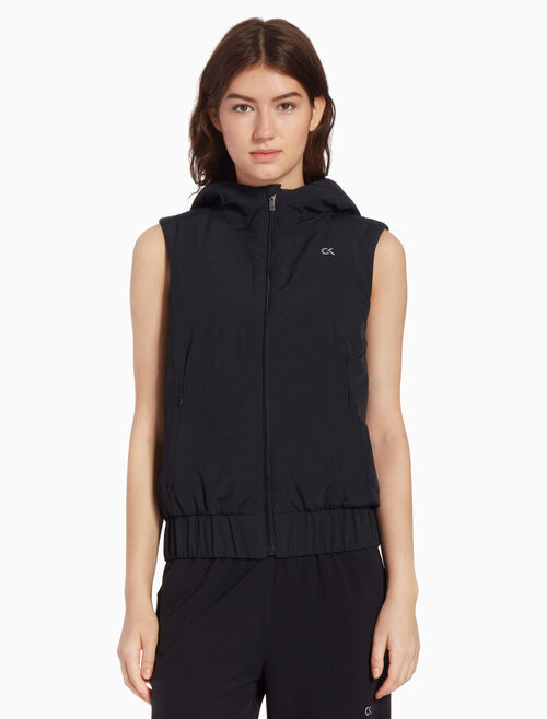 CALVIN KLEIN PADDED GILET WITH HOOD