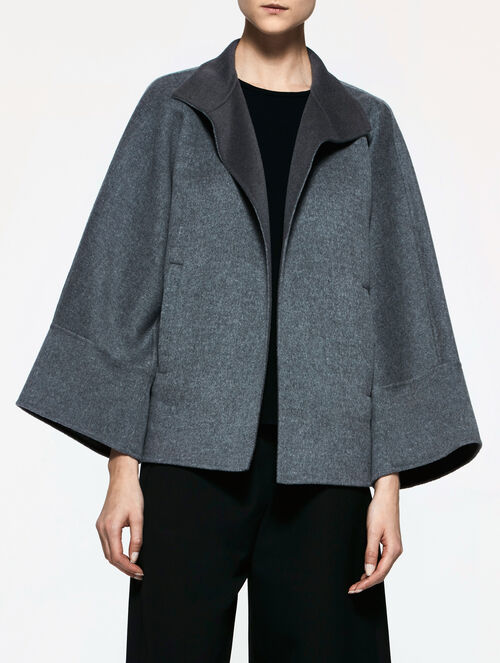 CALVIN KLEIN DOUBLE FACE WOOL CASHMERE EASY SHORT COAT
