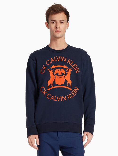 CALVIN KLEIN 프렌치 테리 풀오버 스웨트셔츠