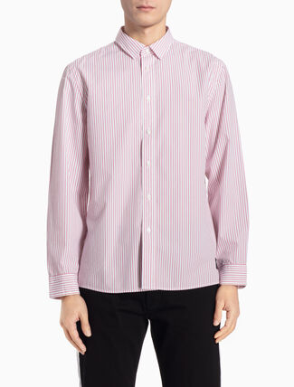 CALVIN KLEIN STRIPED LONG-SLEEVE SHIRT