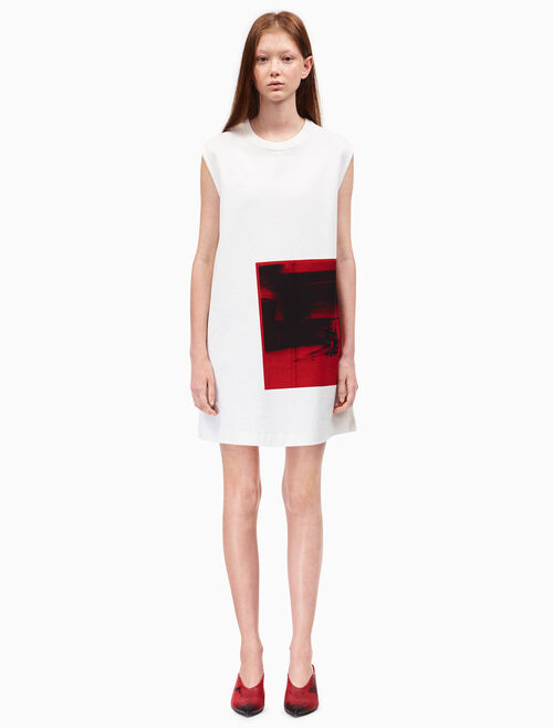 CALVIN KLEIN little electric chair sleeveless dress