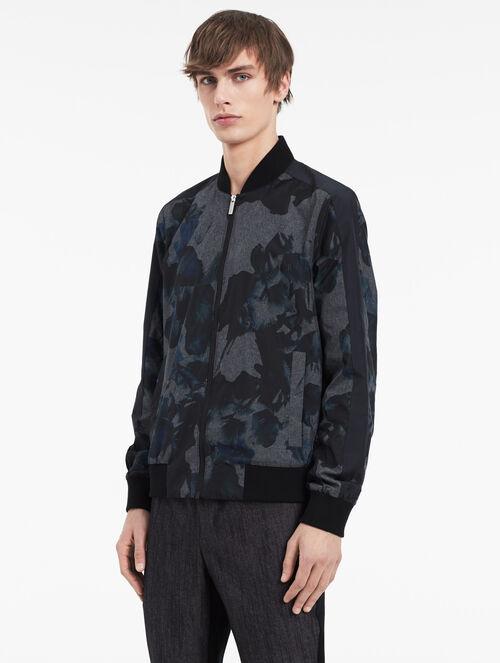 CALVIN KLEIN hyper floral melange jacket