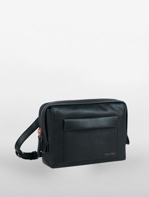 CALVIN KLEIN LAYERED EDGE CROSSBODY