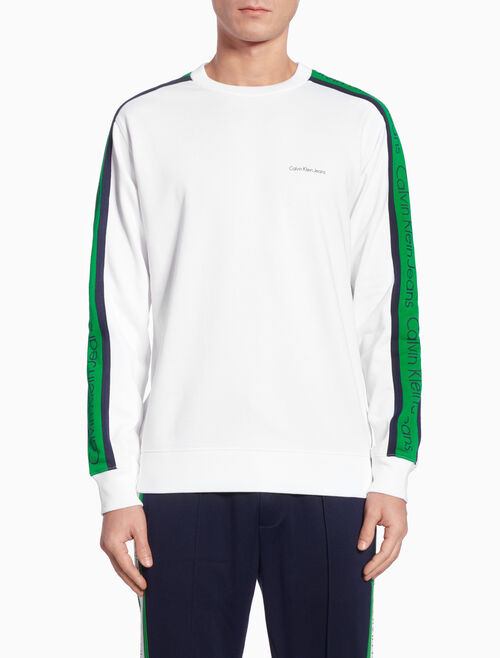 CALVIN KLEIN SIDE STRIPE LONG SWEATSHIRT