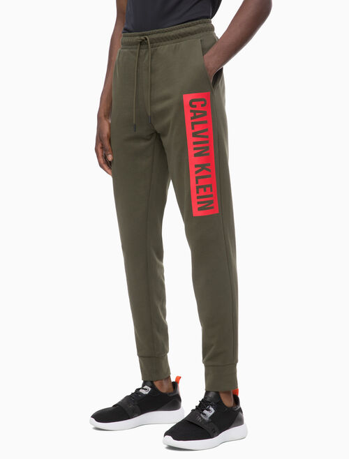 CALVIN KLEIN LOGO BLOCK SWEAT PANTS