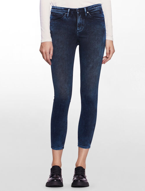 CALVIN KLEIN CHEMICAL BLACK SCLUPTED SKINNY JEANS