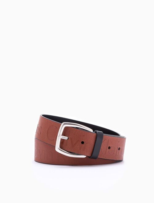 CALVIN KLEIN REVERSIBLE MAGNIFIED LOGO BELT