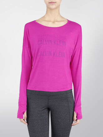 CALVIN KLEIN GRAPHIC BATWING LONG SLEEVE TEE