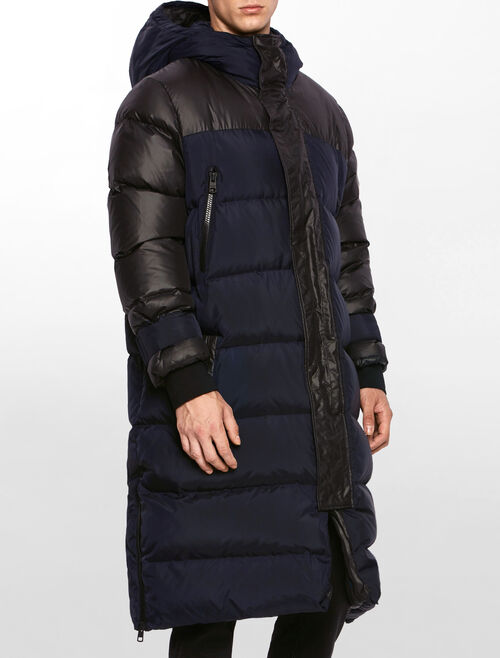CALVIN KLEIN OOPTIC HOODED DOWN JACKET