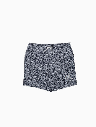 CALVIN KLEIN BOYS ALL OVER PRINT MEDIUM SHORTS