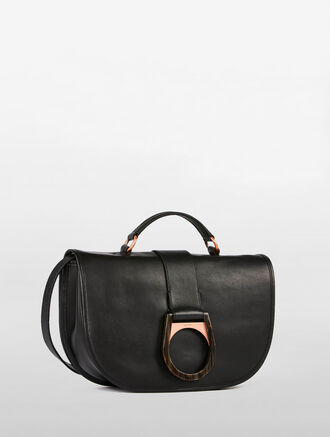 CALVIN KLEIN CARTRIDGE CALF FLAP SATCHEL