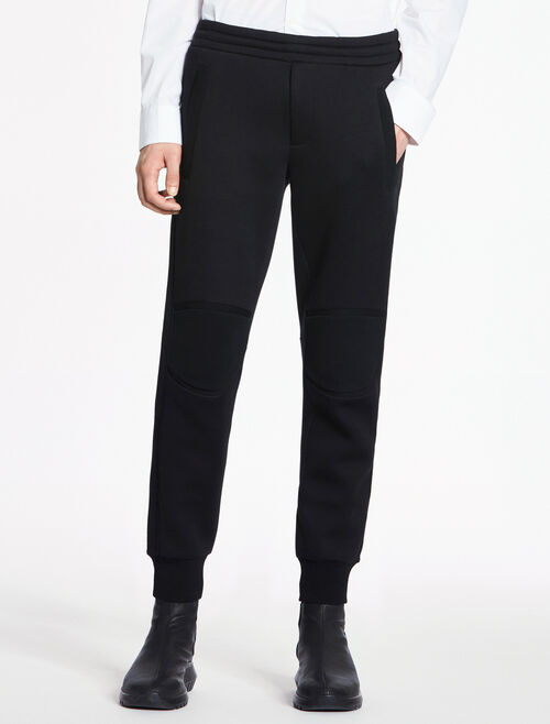 CALVIN KLEIN SCULPTED DOUBLE FACE JERSEY JOGGING PANTS WITH SWEATER TRIM