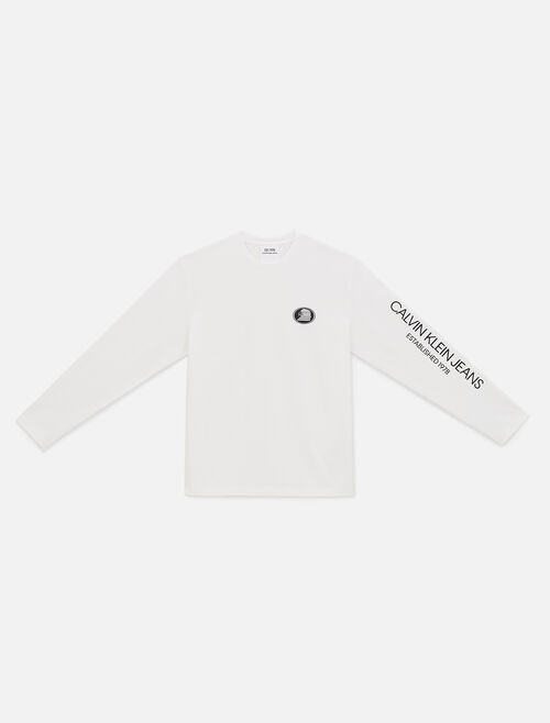 CALVIN KLEIN EST 1978 LOGO LONG SLEEVE SHIRT