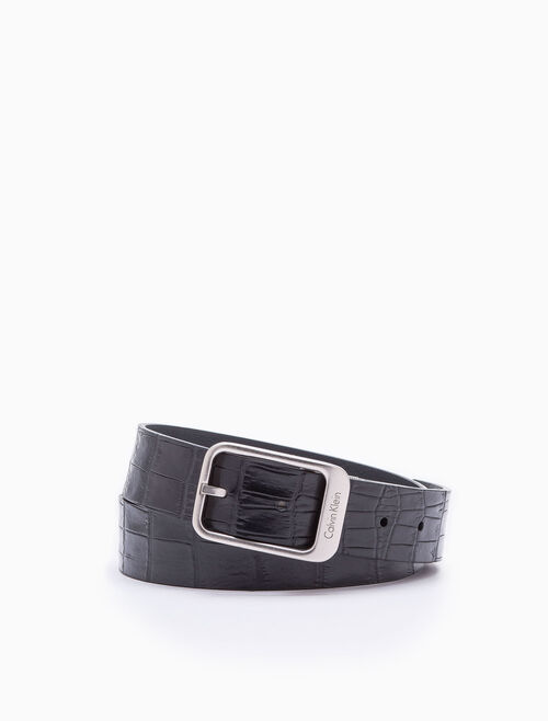 CALVIN KLEIN LONG REVERSIBLE BUCKLE BELT