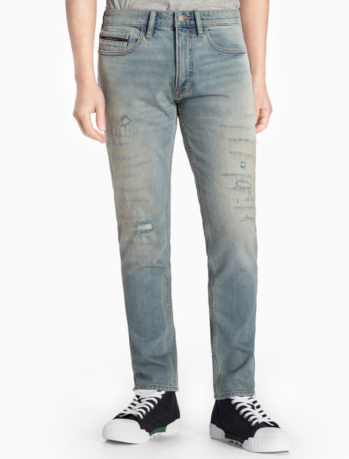 CALVIN KLEIN VINTAGE E STRAIGHT TAPERED JEANS