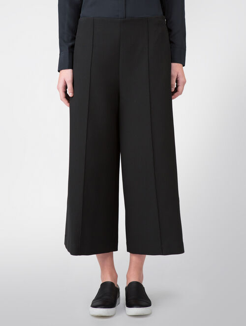 CALVIN KLEIN BONDED MODERN STRETCH EXTREME WIDE LEG CROPPED PANTS
