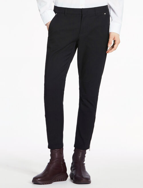 CALVIN KLEIN DEFINED STRETCH TWILL BIKER PANTS