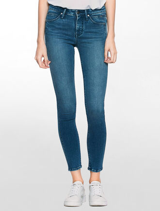 CALVIN KLEIN SCULPTED STATIC BLUE SKINNY JEANS