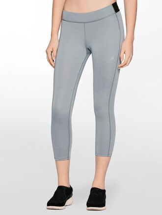 CALVIN KLEIN CROPPED LENGTH REGULAR RISE LEGGING WITH CLASSIC CK LOGO WAISTBAND