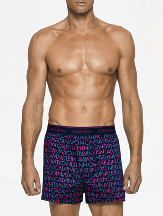 CALVIN KLEIN WOVEN BOXER TRADITIONAL FIT