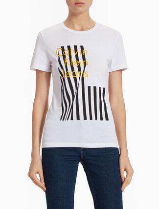 CALVIN KLEIN 오버사이즈 그래픽 프린트 슬림핏 티셔츠