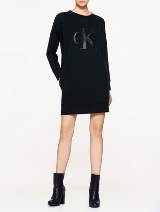 CALVIN KLEIN CALVIN TRACK WOMEN SWEAT DRESS