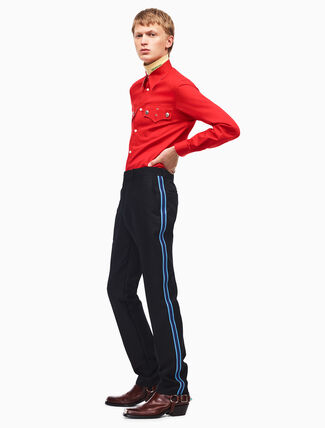 CALVIN KLEIN uniform stripe pants