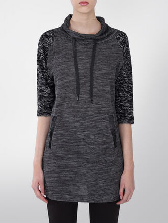 CALVIN KLEIN RIVA MELANGE KNIT DRESS