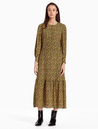 CALVIN KLEIN FLORAL 맥시 드레스