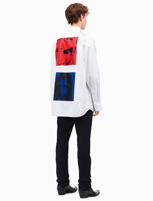 CALVIN KLEIN dennis hopper + sandra brant oversized shirt