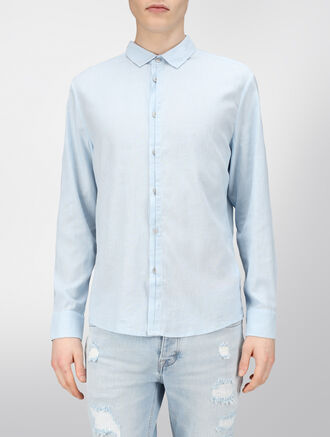 CALVIN KLEIN LINEN COTTON SHIRT